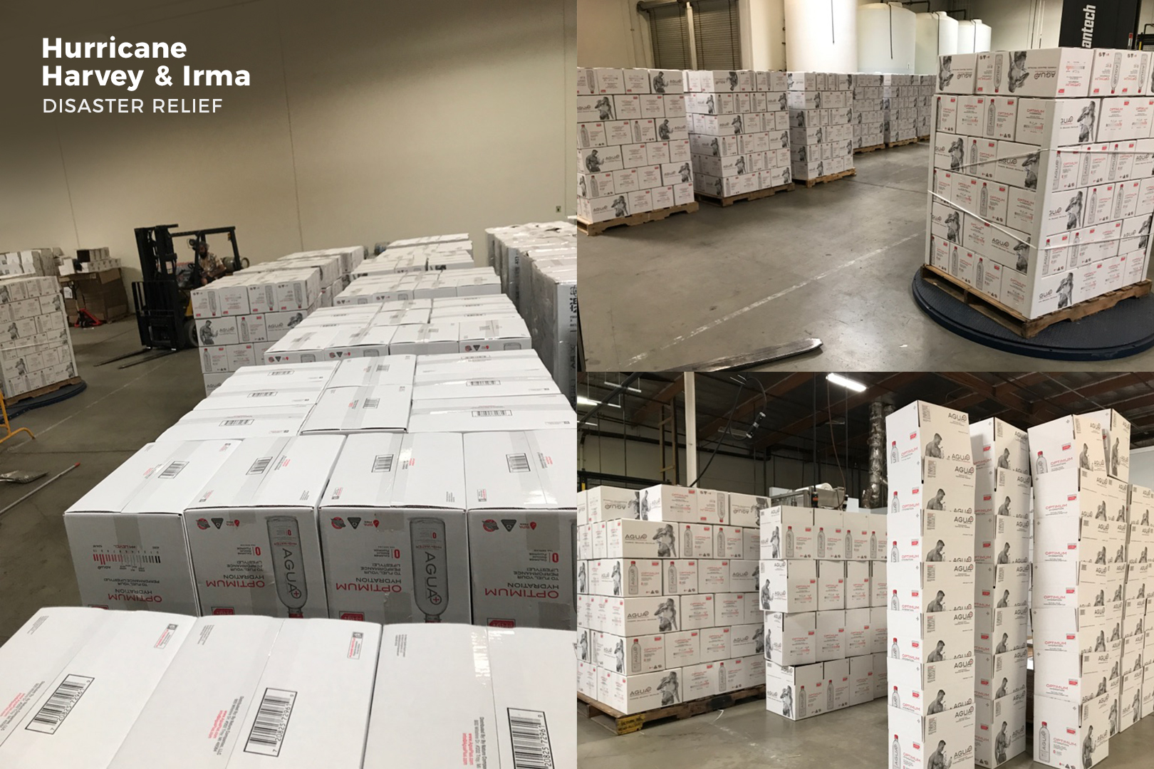 Agua Plus donted to Hurricane Harvey and Irma relief Efforts